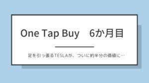【One Tap Buy6か月目+1,253円】1,000円で株が買えるサービスで投資を始めてみた