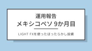 LIGHT FXのメキシコペソ スワップ投資9か月目【+4,005円】